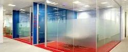 Commercial Frameless Glass Partition