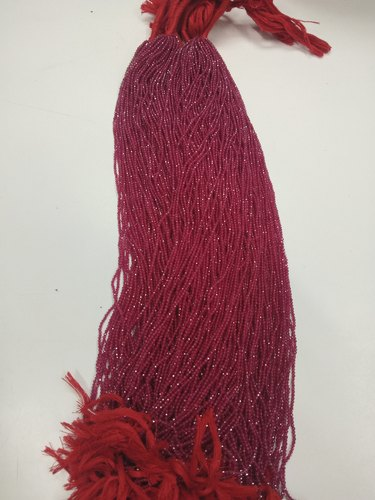 Ruby Imitation Faceted Beads