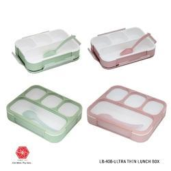 Lunch Box, Leak Proof, Microwave Safe, Insulated - Clear Top-LB-408