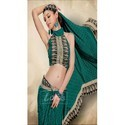 Crepe Printed Designer Shiffon Uniform Saree
