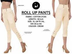 Designer Roll Up Pants