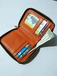 Card Holders Pattern Round Zip Ladies Clutch leather Wallet, Compartments: 1