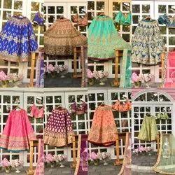 Wedding Wear Silk Bridal Designer Lehenga Choli, Net