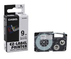 CASIO XR-9WE Tape 9mm Black on White