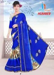 Humber Printed Borderless Saree