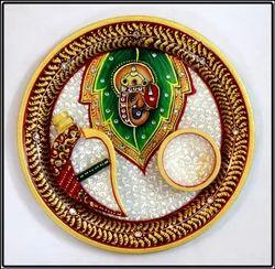Religious Marble Pooja Thali