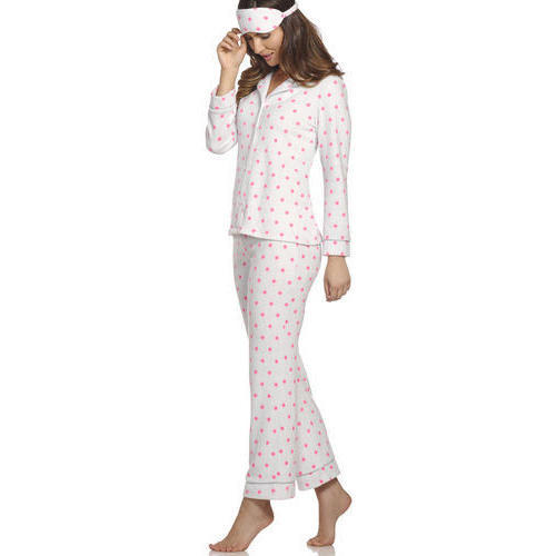 Cotton Ladies Printed Stylish Night Suit, Size : S, M & L