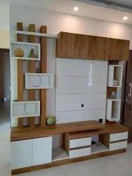 SVB Interiors Plywood Designer Tv Unit, For Home