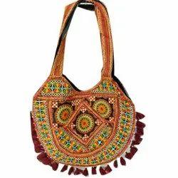 Ethnic Arts Cotton Embroidered Shoulder Fashion Bag
