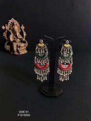 Brass Acrylic Colorful Earrings