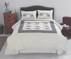 Elephant Print Bedsheet for Double Bed