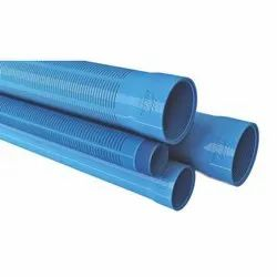 Milan Ribbed Screen PVC Irrigation Casing Pipes, Length of Pipe: 3 m
