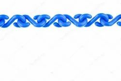Blue & White Plastic Link Chain
