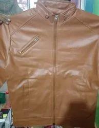 Biker Woolen Rexine Jacket