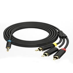 3.5mm Male To 3rca Male Av Cable 1.5 Meter