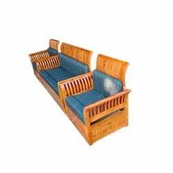 5 Seater Wood Designer Wooden Sofa Set