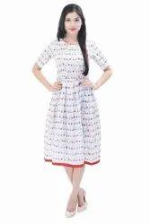 Hand Block Print Designer One Peice  Tunic Dress