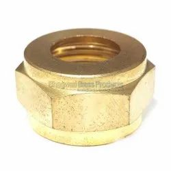 Plumbit Hex-With Double Groove Brass Nut, For Pipe fitting, Grade: CW614N