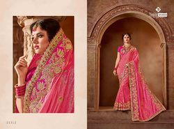 Indian Women Pink Color Viscose Saree