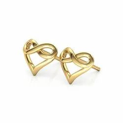 Love Valetine Gold Earrings