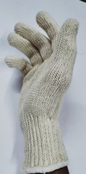 Cotton White Knitted Gloves 60gms