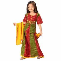 Rajasthani Booti Lehenga Kurti Set 103A