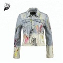 Denim Printed Women Jacket