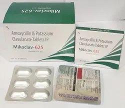 Amoxycillin 50mg   Poatssium Clavulanate 125mg Tablet