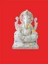 Colorful Ganesha Marble Moorti