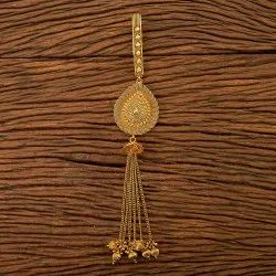 Women Antique Plain Jhuda with Gold Plating 200128, Size: Length = 8 Inch