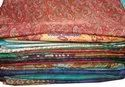 Indian Vintage Women's Crepe Sari Fabric Floral Ethnic Dressmaking Craft