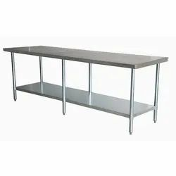 AssetMax Stainless Steel SS Work Table, For Hotel, Sainless Steel