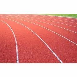 Red Outdoor Running Track Flooring