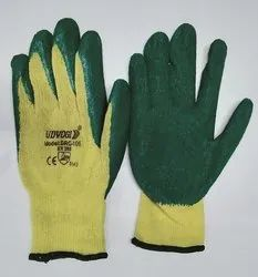 DRC Udyogi Yellow Green Safety Gloves