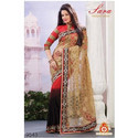 Designer Stylish Party Wear Saree, Length: 5.5 M