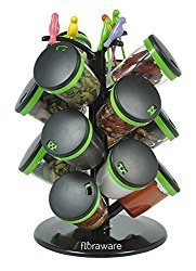 Shree Radhe 15 Jar Revolving Spice Box Rack With Fruit Fork