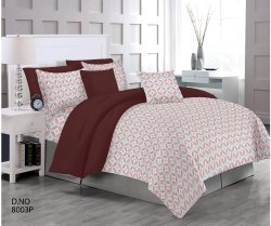 Pure Satin Fabric Designer Bed Sheet