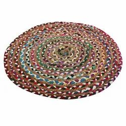 Jute Braided Living Room Floor Rug