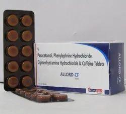 Phenylephrine 5mg+ Caffeine 30mg+Diphenhydramine 25mg+ Paracetamol 326mg