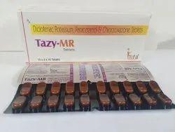 Diclofenac 50 mg, Paracetamol 325 mg, Chlorzoxazone 250 mg