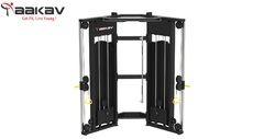 Black & Silver Multi Functional Trainer X1 Series Aakav Fitness