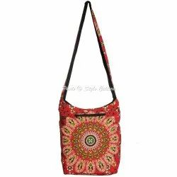 Mandala Cotton Printed Jhola Bags