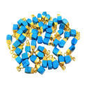 Turquoise Gold Plated Raw Stone Charm Pendant