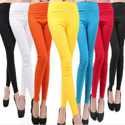 40+ Colours Plain Ladies Spandex Leggings, Size: XXXL