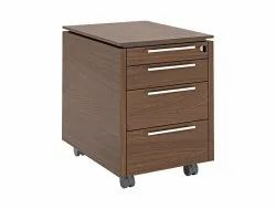 4 Drawer Wooden Office Pedestal