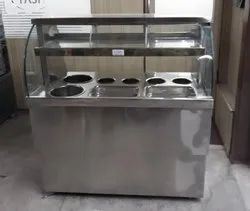 4.5 Feet Golgappa Display Counter