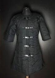 Padded Collar Amour Costume Cotton Armor Padding Collar Medieval Garment Black
