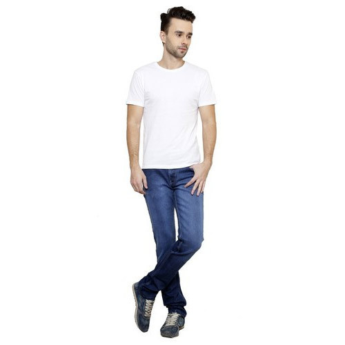 Fausta Mens Blue Cotton Jeans