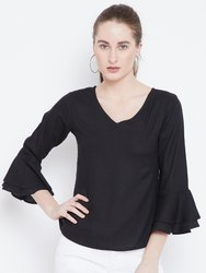 Girls V-neck Rayon Top