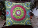 Indian Suzani Cushion Cover & Throw Pillow Case